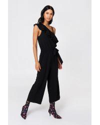 Rut&Circle - Black Ofelia One Shoulder Jumpsuit - Lyst