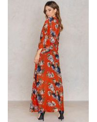 NA-KD | Red Chiffon Coat Dress | Lyst