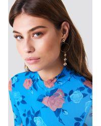 Trendyol - Metallic Pearl Earrings - Lyst