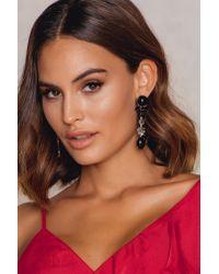 NA-KD - Black Dark Hanging Diamond Earring - Lyst