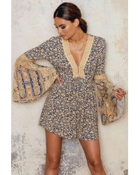 Free People   Multicolor Romper Once Upon   Lyst