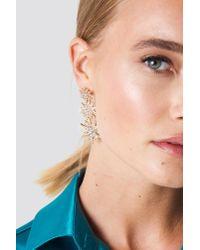 NA-KD - Metallic Hanging Sparkling Stars Earrings - Lyst