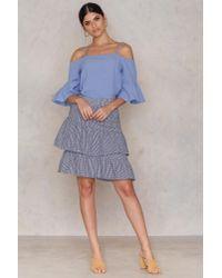 Rut&Circle - Blue Jolie Frill Sleeve Blouse - Lyst