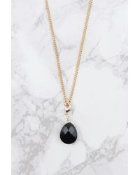 NA-KD - Metallic Stiff Hanging Crystal Necklace - Lyst