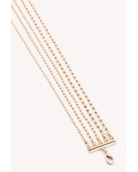 NA-KD - Metallic Multi Row Choker Necklace - Lyst