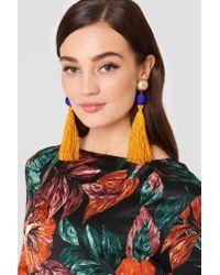 Mango - Multicolor Tassel Earrings - Lyst
