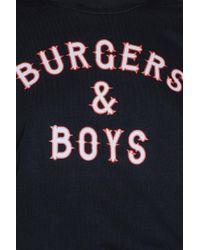 Colourful Rebel   Black Burgers & Boys Boyfriend Sweat   Lyst