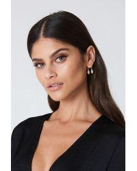NA-KD | Metallic Hanging Leaves Earrings | Lyst