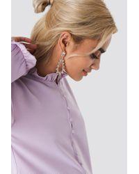 NA-KD - Metallic Sparkling Studded Drop Earrings Gold - Lyst