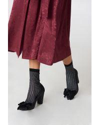 Filippa K - Black Lurex Rib Sock - Lyst
