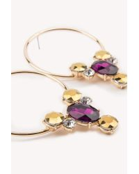 NA-KD - Metallic Multi Stone Circle Earrings - Lyst