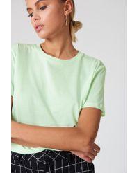 NA-KD - Basic Oversized Tee Light Fizzy Green - Lyst