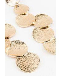 NA-KD | Metallic Melted Circle Earrings | Lyst