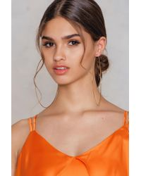 NA-KD - Metallic Xl Hoop Earrings - Lyst