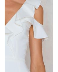 Lavish Alice | White Tailored Frill Jumpsuit | Lyst