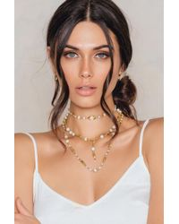 NA-KD - Multicolor Tripplechain Bead Necklace - Lyst