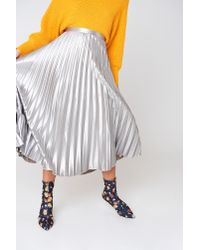 Bardot - Metallic Pleated Skirt - Lyst