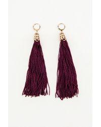 NA-KD - Purple Hanging Tassels Earrings - Lyst