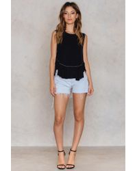 Free People - Black Uptown Tee - Lyst