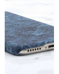NA-KD - Blue Iphone Case 6/6s Dark Green Marble - Lyst