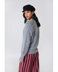 NA-KD - Gray Brushed Cardigan Grey - Lyst