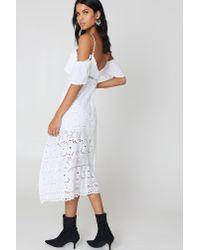 Bardot - White Camilla Lace Dress - Lyst