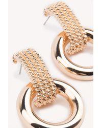 NA-KD - Metallic Thick Ring Hoop Earrings - Lyst