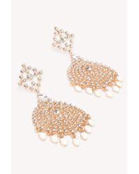 NA-KD - Metallic Oversized Rhinestone Stud Earrings - Lyst