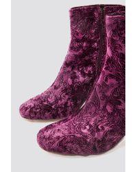 Gestuz - Purple Lively Boots Merlot - Lyst