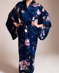 Meng - Blue Long Kimono - Lyst