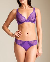 Simone Perele - Purple Queen Triangle Bra - Lyst