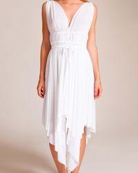 Norma Kamali | White Goddess Asymmetrical Dress | Lyst