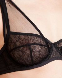Damaris - Black Panther Tulle Demi-cup Bra - Lyst