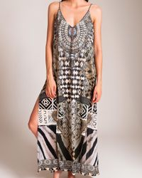 Camilla | Multicolor Weave Of The Wild Overlay V Dress | Lyst