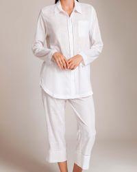 Skin - White Cotton Woven Shadow Pajama - Lyst