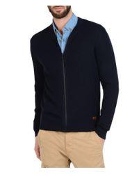 Napapijri | Blue Zip Sweater for Men | Lyst