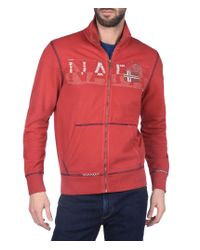 Napapijri | Red Full Zip Fleeces for Men | Lyst