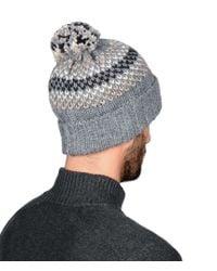 Napapijri - Gray Semiury Bobble Hat for Men - Lyst