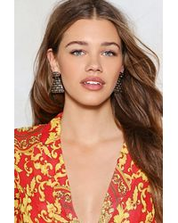 Nasty Gal - Metallic Would You Be-weave It Earrings - Lyst