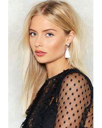 Nasty Gal - Metallic Queen Of The Tassel Earrings - Lyst