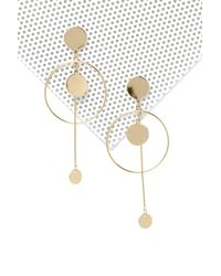 Nasty Gal - Metallic Another Round Drop Earrings - Lyst