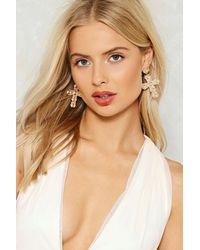 Nasty Gal - Metallic Elena Cross Earrings - Lyst