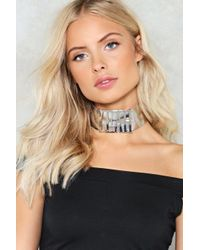 Nasty Gal | Metallic Shout It Out Metal Choker Shout It Out Metal Choker | Lyst