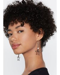 Nasty Gal - Metallic Cosmic Love Star Earrings - Lyst