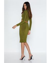 Nasty Gal - Green Piece Together Crop Top And Skirt Set - Lyst