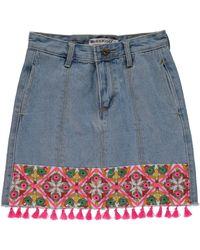 Nasty Gal - Blue One Week Last Summer Embroidered Denim Skirt One Week Last Summer Embroidered Denim Skirt - Lyst