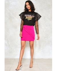 Nasty Gal | Multicolor Ruffle Mini Skirt Ruffle Mini Skirt | Lyst