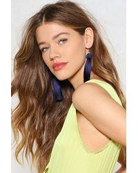 Nasty Gal - Blue Hang Ups Tassel Earrings - Lyst