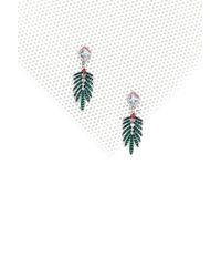 Nasty Gal - Green Plant Help It Diamante Earrings - Lyst