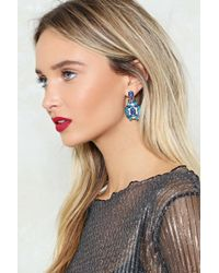 Nasty Gal - Blue Embellished Multistone Earrings Embellished Multistone Earrings - Lyst